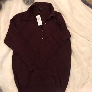 NWT maroon Ann Taylor Factory sweater